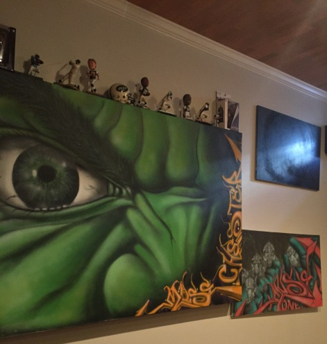 Personal Art Collection, Canvas done by Chester Wallnuts and Muse