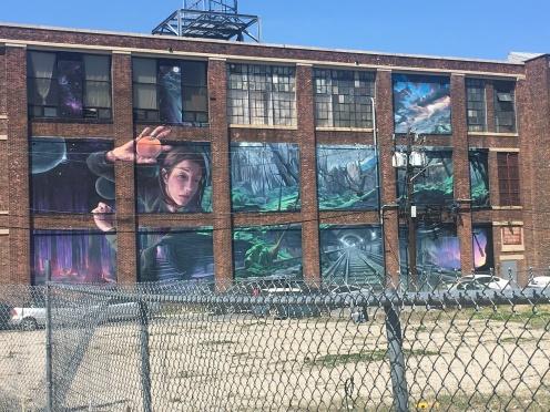 Distort Mural on 430 Summit