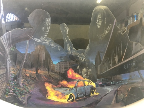 Distort_ Car hood art in studio